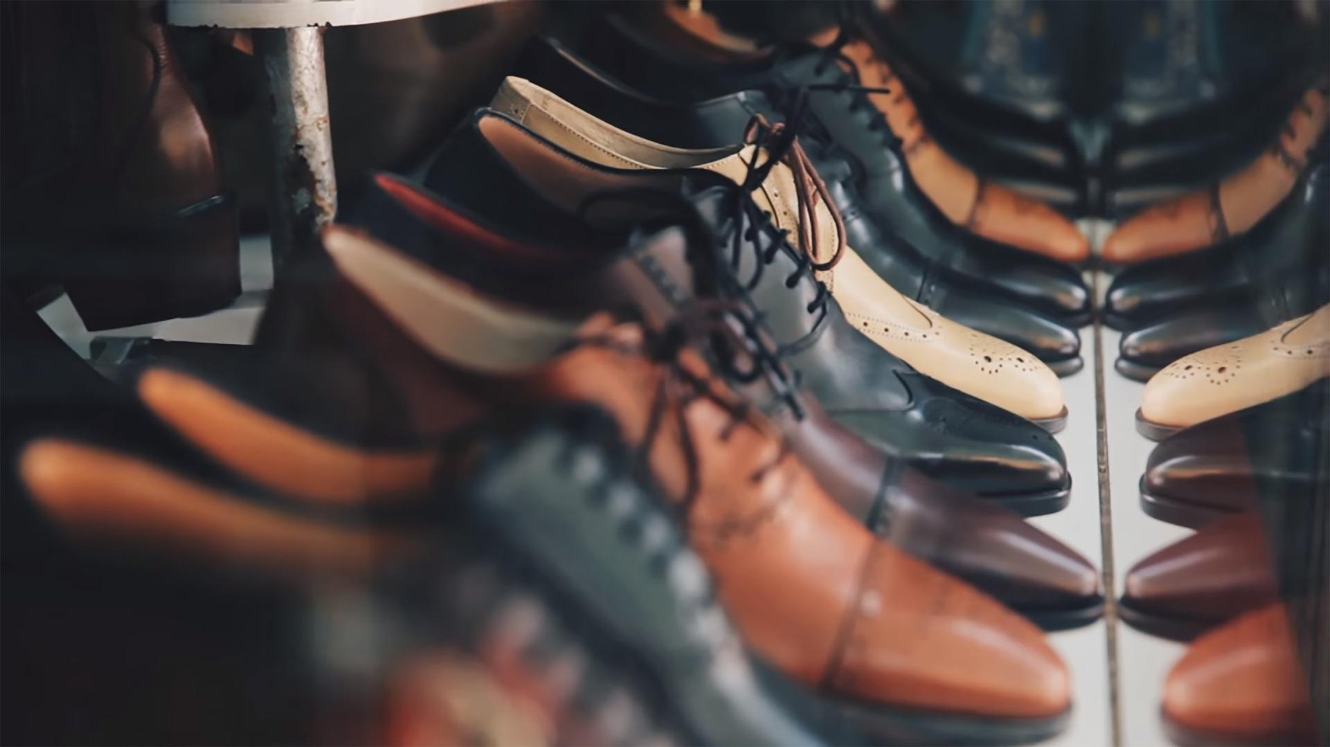 Chaussures en cuir homme