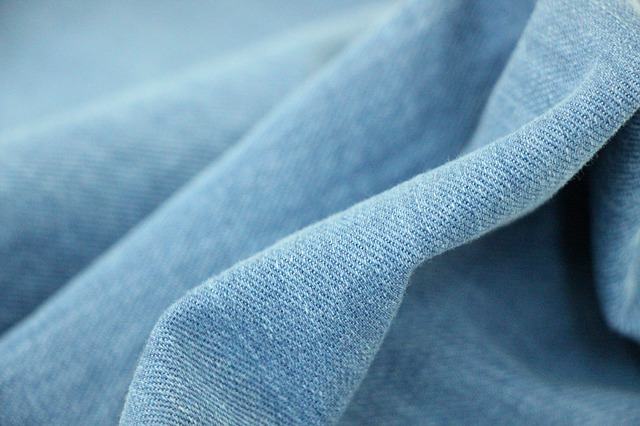 tissu denim bleu jeans